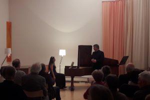 """Liederabend """"Winterreise"""" mit Thomas Gropper, Musikhaus Marthashofen, Feb. 2019"""