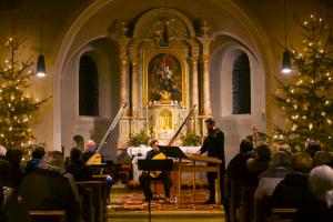 Weihnachtliches Konzert mit Ensemble SiTé in St. Mauritius, Jan. 2019